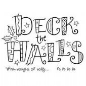 Woodware - Curly Deck the Halls - Clear Magic Stamp Set - FRS270